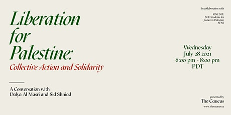 Liberation for Palestine: Collective Action and Solidarity tickets