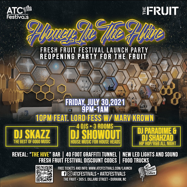 Honey In The Hive:  Fresh Fruit Festival Launch & Reopening of THE FRUIT image