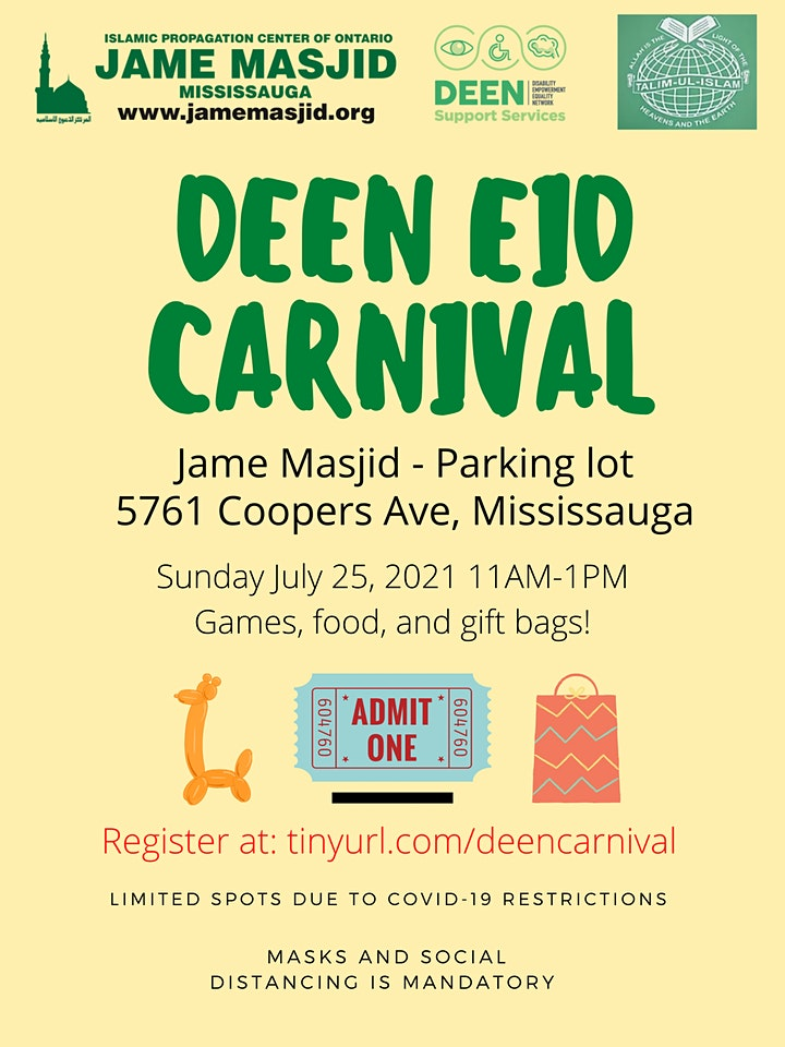DEEN's Eid Carnival (Mississauga) image