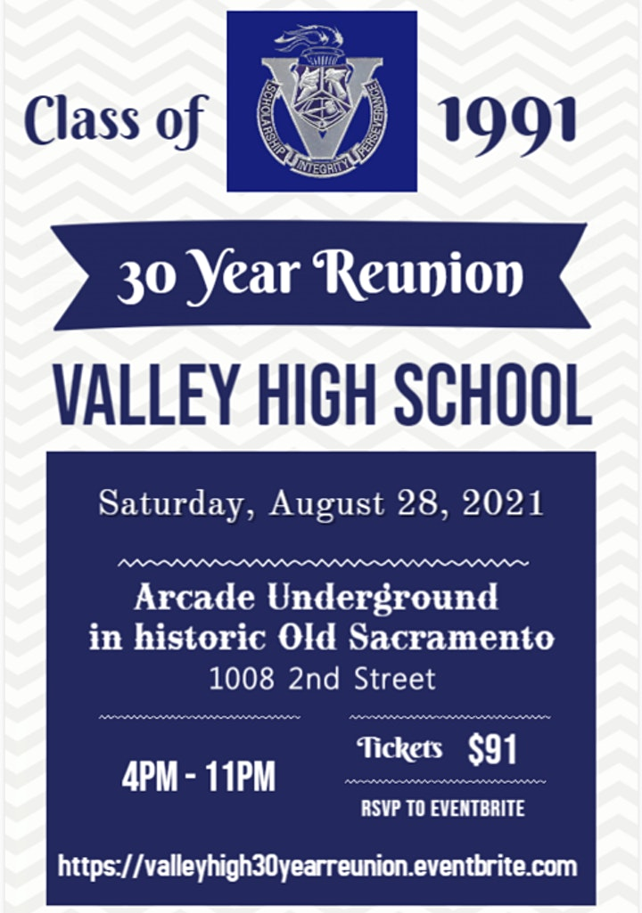 Valley High School Class of 1991 30 Year Reunion in historic Old Sacramento image