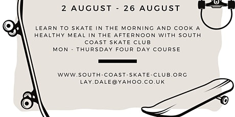 South coast skate club and Chesswood school HAF programme tickets