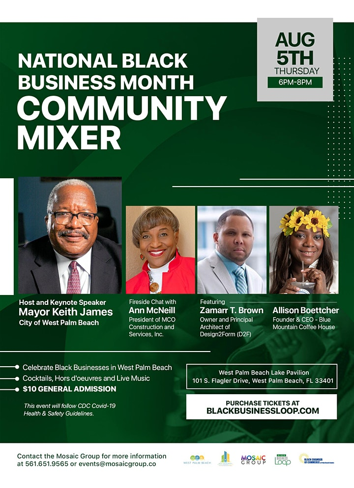 National Black Business Month Community Mixer - Hosted by Mayor Keith James image