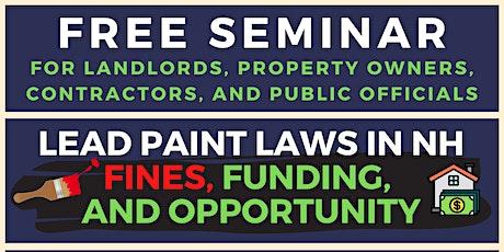 Lead Paint Laws for Landlords, Contractors, Public Officials tickets