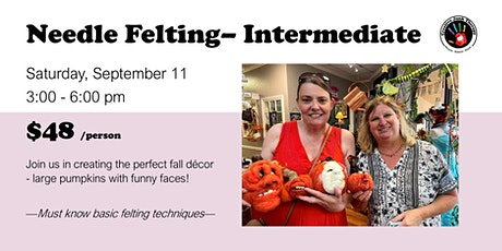 Needle Felting- Intermediate tickets