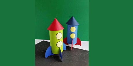 45min Learn to Craft: Paper Roll Rockets @3PM  (Ages 4+) tickets