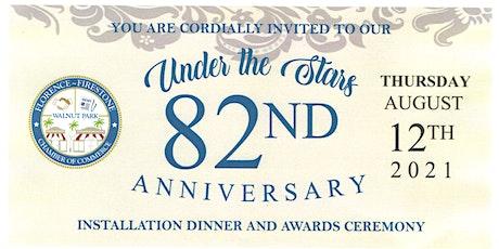 82 Anniversary Installation Dinner tickets