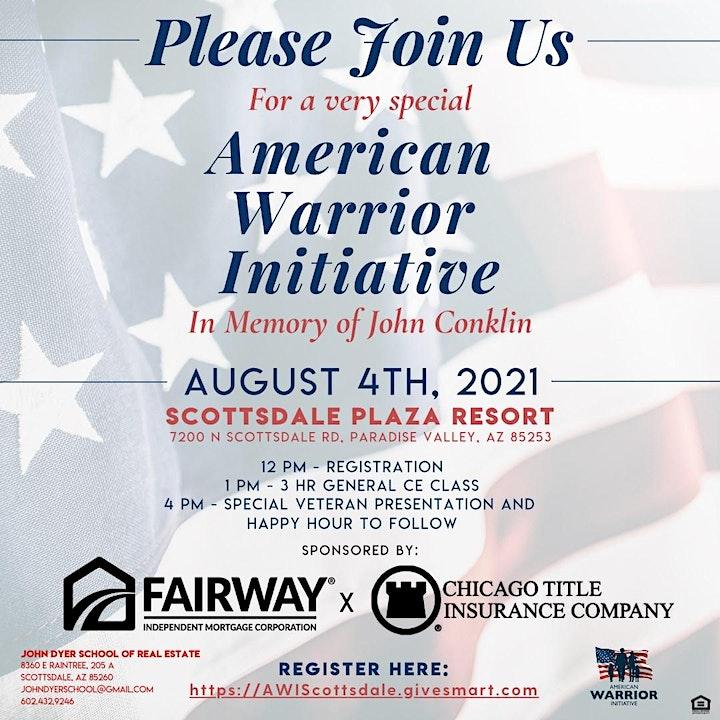 American Warrior Initiative RE Event! image