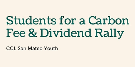 Students for a Carbon Fee & Dividend Rally tickets