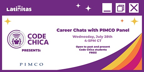 Code Chica presents: Career Chats with PIMCO Panel tickets