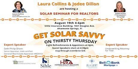 Get Solar Savvy on Thirsty Thursday! tickets