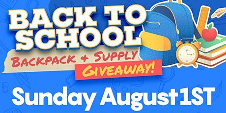 Back To School Backpack & Supply tickets