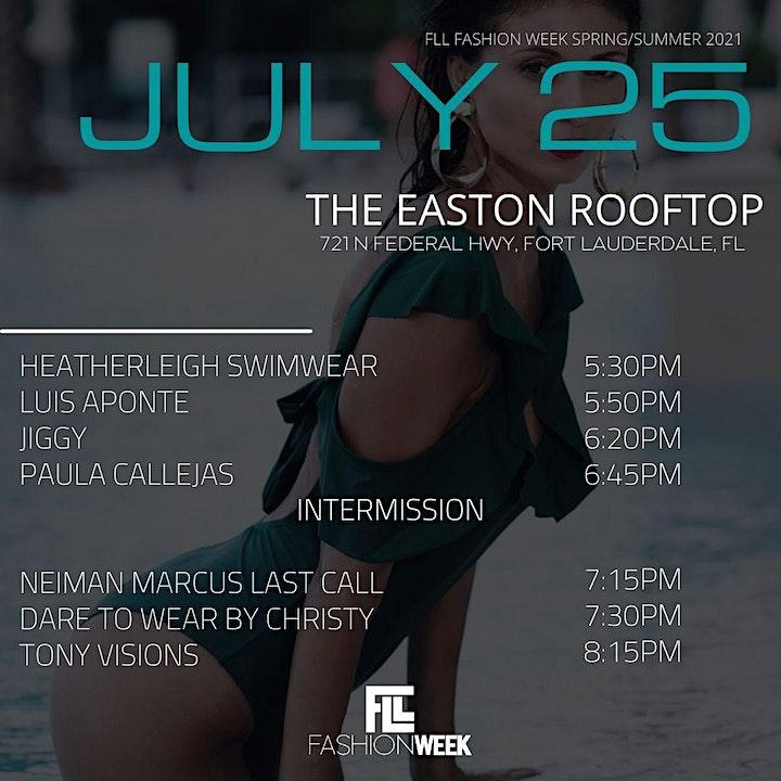 FLL FASHION WEEK SUMMER SHOWS- JULY 23-25 image