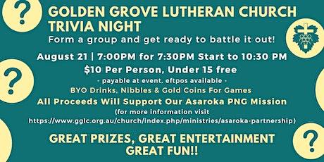 Golden Grove Lutheran Church Trivia Night tickets