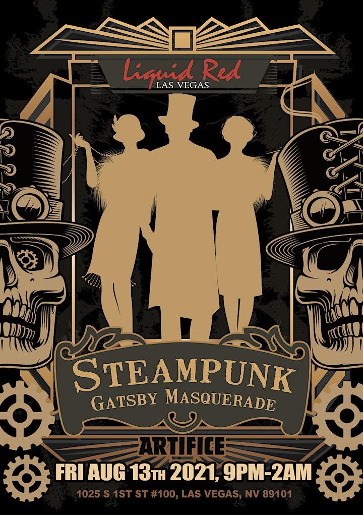 Liquid Red Steampunk Gatsby Masquerade image