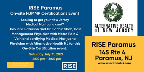 Copy of RISE Paramus On-Site NJMMP Certifications tickets