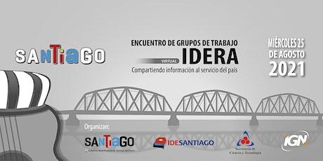 Encuentro de Grupos de Trabajo de IDERA 2021 (Virtual) entradas