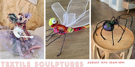 Textile Sculpture Workshop - Mouse, Dragonfly or Spider tickets