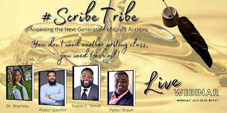 #ScribeTribe Live Webinar - Anointing the Next Generation of God's Authors tickets