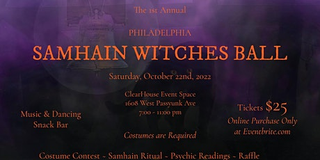 Philadelphia Samhain Witches Ball 2022 tickets
