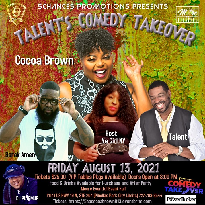"""5 Chances Presents """"Talent's Comedy Takeover"""" image"""