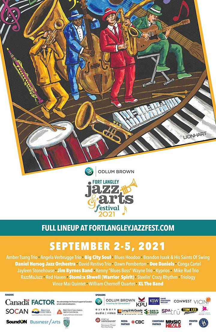 Odlum Brown Fort Langley Jazz & Arts Festival - In-Person LIVE Tickets image