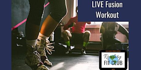 Mondays12pm PST LIVE Fit Mix XPress:30 min Fusion Fitness @ Home Workout tickets