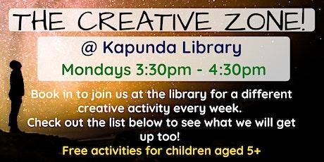 Term 3: The Creative Zone @ The Kapunda Library tickets