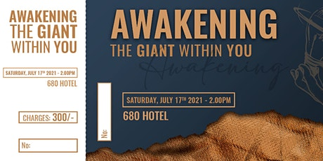 Awakening The Giant In You. tickets