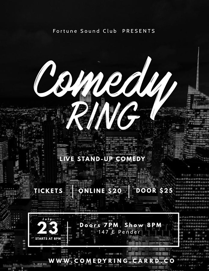 Fortune Sound Club Presents COMEDY RING image