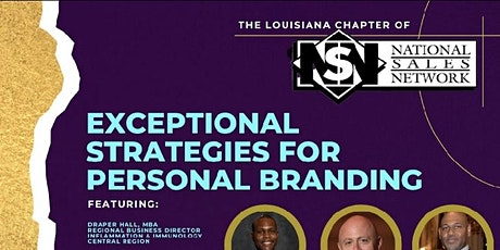 EXCEPTIONAL STRATEGIES FOR PERSONAL BRANDING tickets