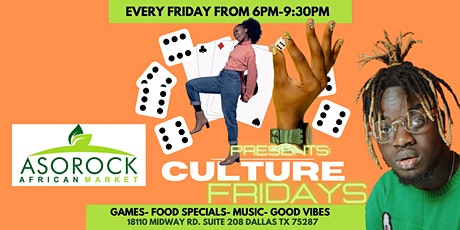 """Aso Rock Market presents """"Culture Fridays Game Night"""" tickets"""