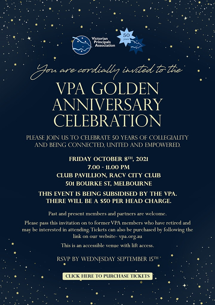 VPA Golden Anniversary Celebration image