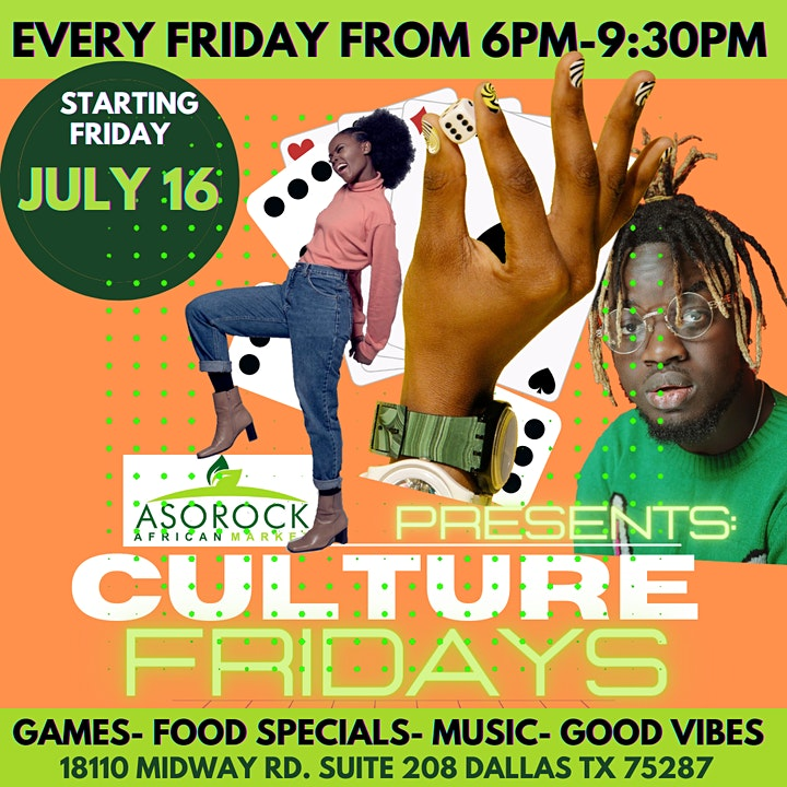 """Aso Rock Market presents """"Culture Fridays Game Night"""" image"""