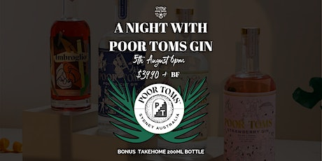 A Night With Poor Toms at Blind Tiger tickets