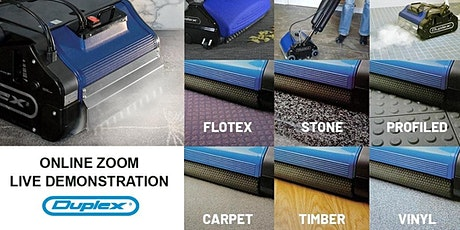 ZOOM DEMO: Floor Cleaning with Duplex Cleaning Machines - 2021 tickets