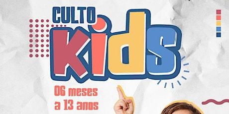 CULTO KIDS ingressos