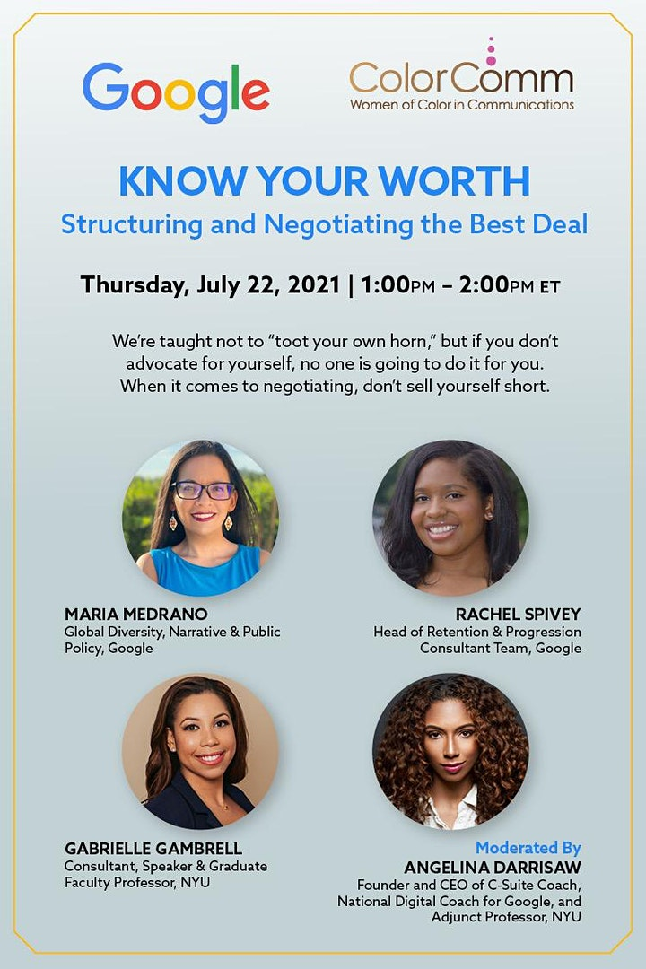 Google Presents: Know Your Worth: Structuring and Negotiating  Best Deal image