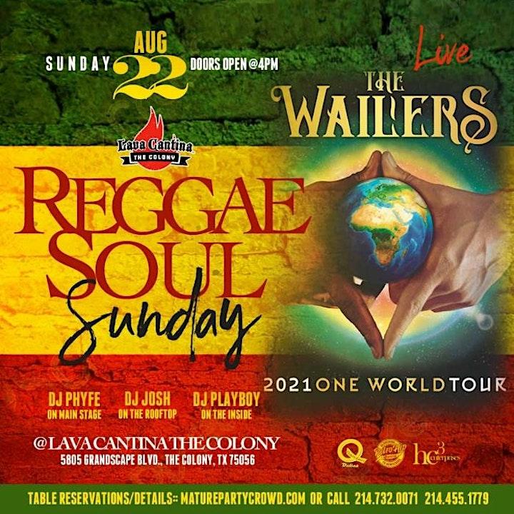 Reggae Soul Sunday feat The LEGENDARY REGGAE PIONEERS - THE WAILERS image