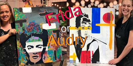 Frida or Audrey Paint and Sip Brisbane  18.9.21 tickets