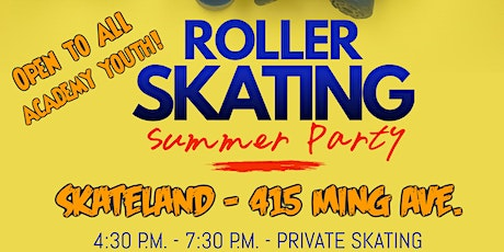 """Upside Academy, Inc. presents """"Summer Party Skate"""" tickets"""