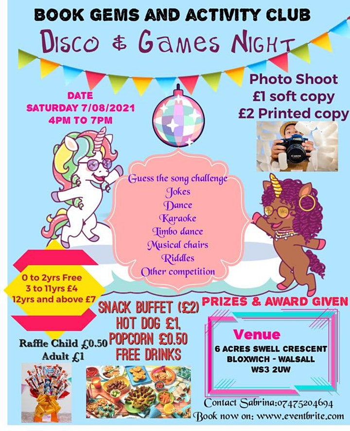 Kids Disco and Games Night image
