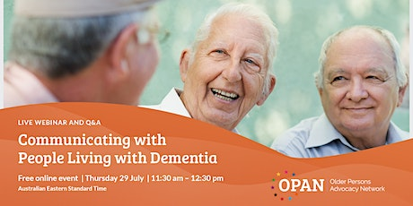 Communicating with People Living with Dementia biglietti