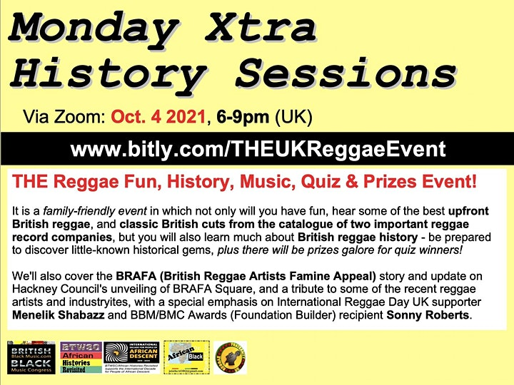 THE Reggae Fun, History, Music, Quiz & Prizes Event! image
