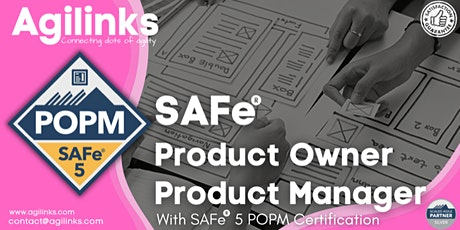 SAFe 5.0 POPM (Online/Zoom) Aug 28-29, Sat-Sun, London Time (GMT) tickets