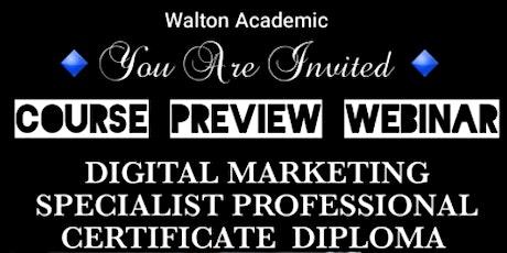 Digital Marketing Specialist Professional Cert. Diploma biglietti