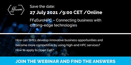 FF4EuroHPC - connecting business with cutting-edge technologies: Webinar tickets