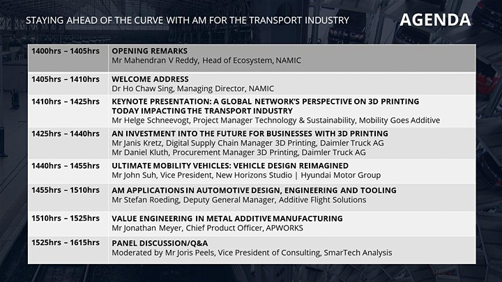NAMIC Summit: Staying Ahead of the Curve with AM for the Transport Industry image