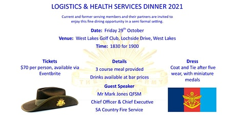 SA Logistics and Health Services Associations Dinner 2021 tickets