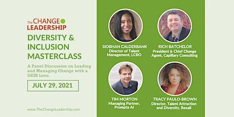 Diversity & Inclusion Change Leadership Masterclass 2021 tickets