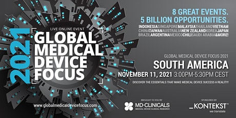 Global Medical Device Focus 2021: South America tickets